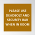 Deadbolt & Security Bar Decal