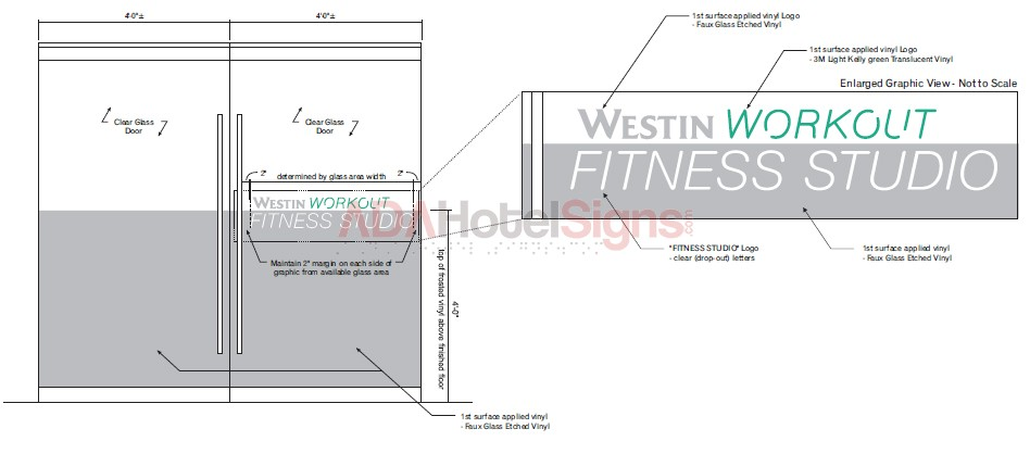 Westin Workout Vinyl entry graphics