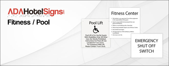 Fitness / Pool Signs